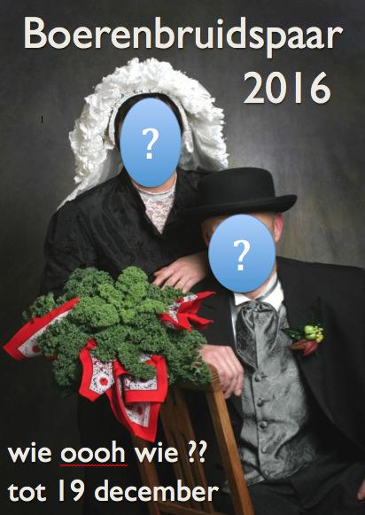 Boerenbruidspaar 2016